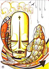 Skull Solar (.  F L F  .) Tags: portrait color art halloween colors cores poster dead skeleton skull design ghost pop textures cruz peixe muertos bone arrow anzola seta caveira carpa walpaper crnio anzol franciscofreitas