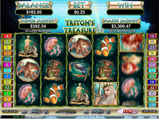 Triton's Treasure slot game online review