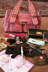 gucci handbag and contents (All Things Bright 'n Beautiful) Tags: pink keys pearls gucci gloves card purse lipstick lipgloss handbag dior primark samsungmobile