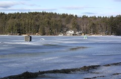 Too Late Perhaps (7) (Andre Reno Sanborn) Tags: icefishing websterlake franklinnh bobhouses