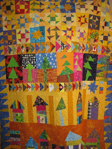 Ben's wonky houses quilt by Linseed2010