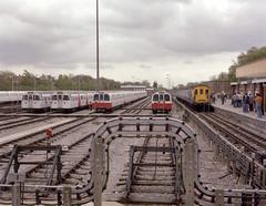 Hastings Unit Farewell - 1002 at Stanmore (74009) Tags: tube londonunderground hastings railtour britishrail jubileeline londontransport demu 6l 6s 1983stock 1972stock class201 hastingsdemu class202 hastingsunit