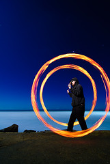 Jamie, Circles, Hendry's Beach (Toby Keller / Burnblue) Tags: longexposure night fire jamie sb600 spinning poi 1224mm d300 hendrys strobist