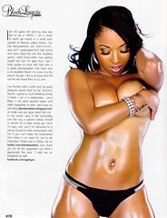 Sheneka Adams Show Magazine  Black Lingerie