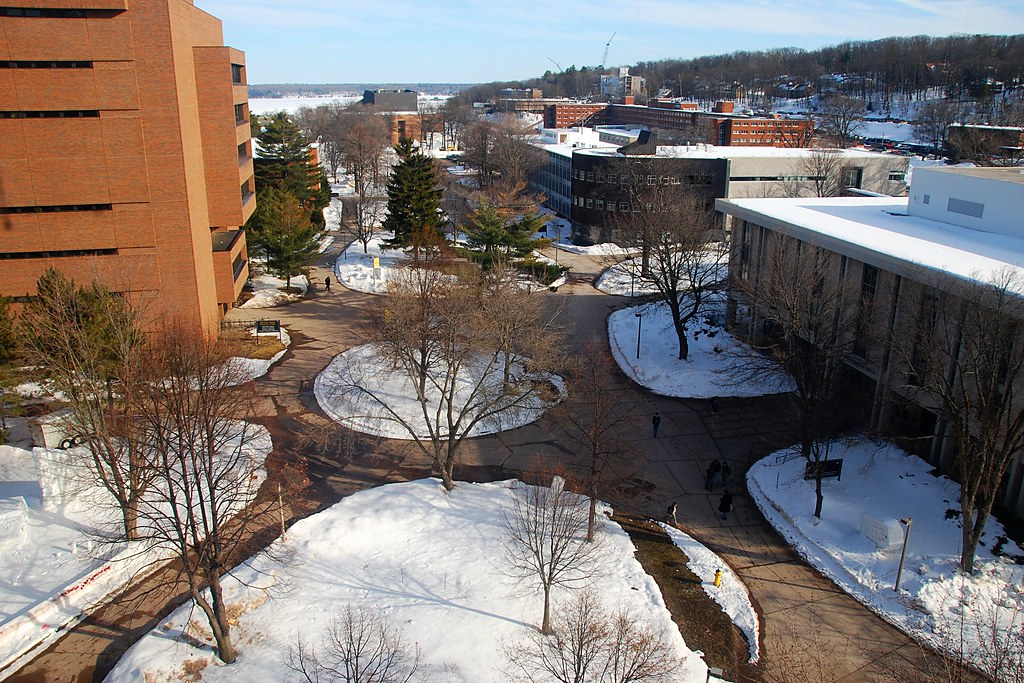 Michigan Tech's campus, from above.