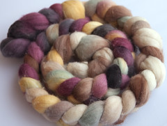"FIBER TESTERS- Discount- ""Boaz"" Wool Top 4oz (...a time to dye)"