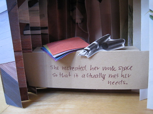 She recreated her work space to actually meet her needs.