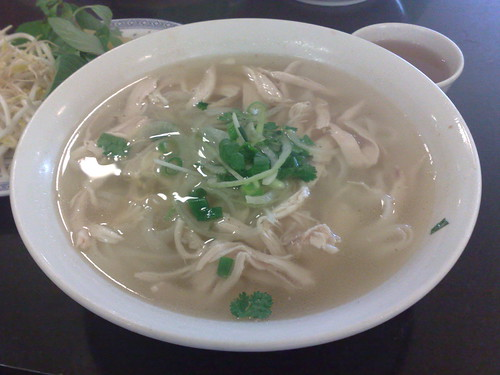 shredded chicken pho