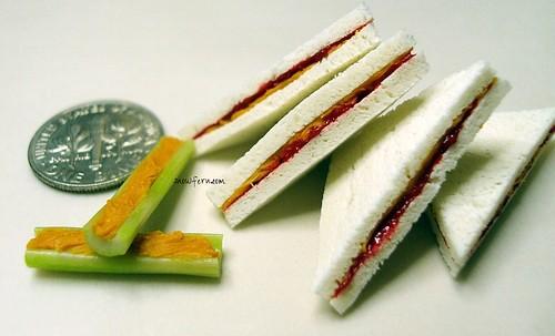 1:4 scale PB Celery & PBSJ Sammiches