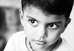 Black and white (P.C.P) Tags: blackandwhite bw white black cute smile eyes fuji innocence lovely chennai pcp pcpsk59