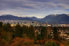 Vancouver from Queen Elizabeth Park (Brandon Godfrey) Tags: world pictures city trees wallpaper urban mountains skyline vancouver clouds landscape photography scenery downtown cityscape bc metro photos pics earth britishcolumbia free scene pacificnorthwest northamerica hdr queenelizabethpark bcplace vast harbourcentre lowermainland northshoremountains landscpe backround tonemapped tonemapping sonya300