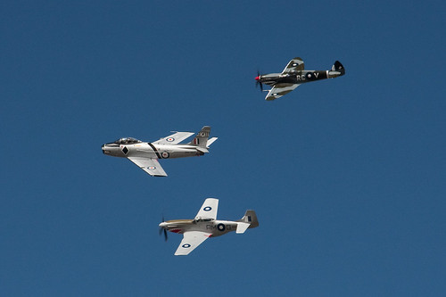 Spitfire, Sabre and Mustang