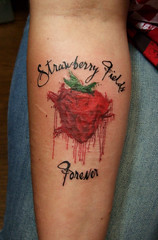 strawberry fields (swan queen) Tags: anna color tattoo tattoos beatles scar strawberryfields thebeatles coverup annabanana
