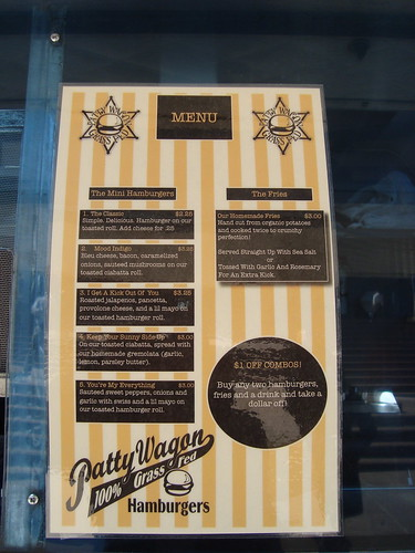 Menu @ Patty Wagon