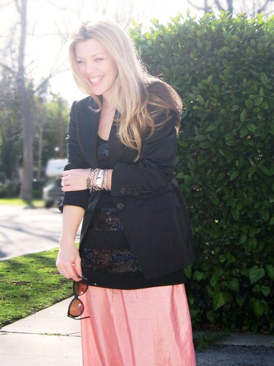 long skirt black blazer-6 contrast