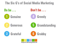 The Six Gs of Social Media Marketing [Photo by kivilm] (CC BY-SA 3.0)