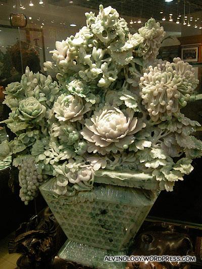 Gigantic jade flower