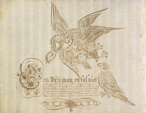 025-Schreibmeisterbuch für Herzog Wolfgang Wilhelm von Pfalz-Neuburg (1600s)