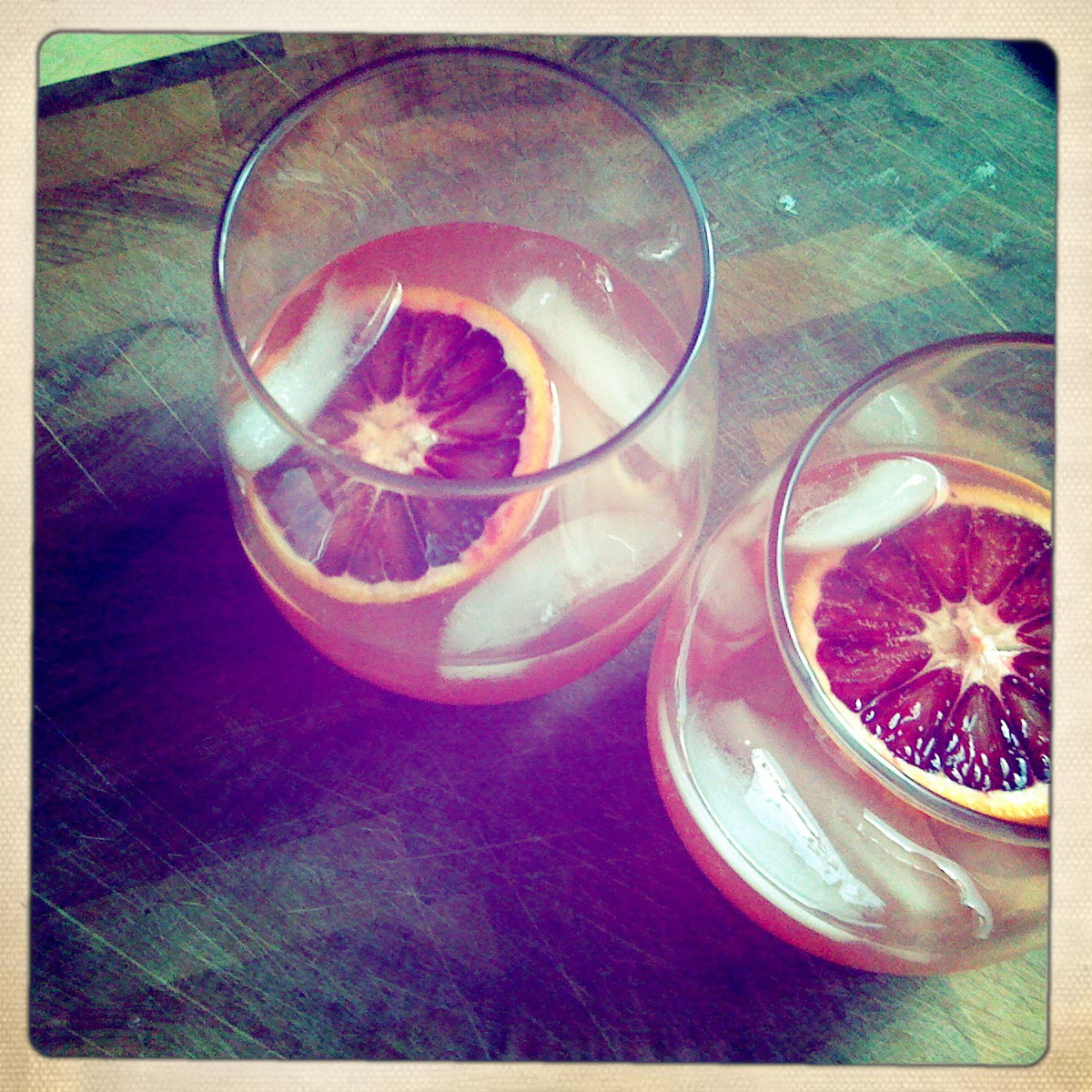 Lillet & blood orange cocktail