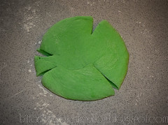 cut shape green shamrock st patricks day pizza doughedit