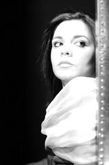 (Fiore @----) Tags: portrait girl monochrome donna bn sguardo ritratto viso biancoenero alessia fiorella trasognoerealt
