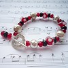 Red Polka Heaven (Glittering Prize - Trudi) Tags: uk red black silver beads handmade polka customer dots trudi sra galss glitteringprize beadypool