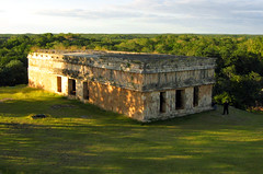 over the horizon (Xuan Che) Tags: travel winter sunset sunlight history archaeology architecture mexico temple ancient ruins december pyramid maya yucatan 2006 jungle merida tropical canonixus400 uxmal worldheritage prehispanic