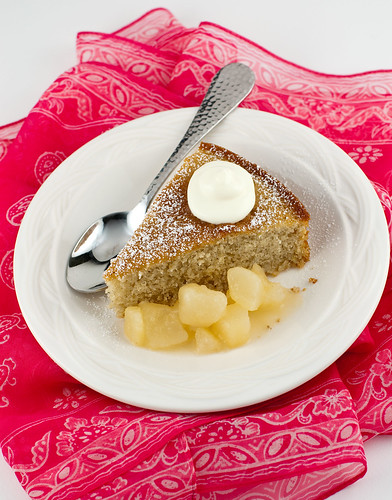 Buttermilk Spice Cake with Pear Compote