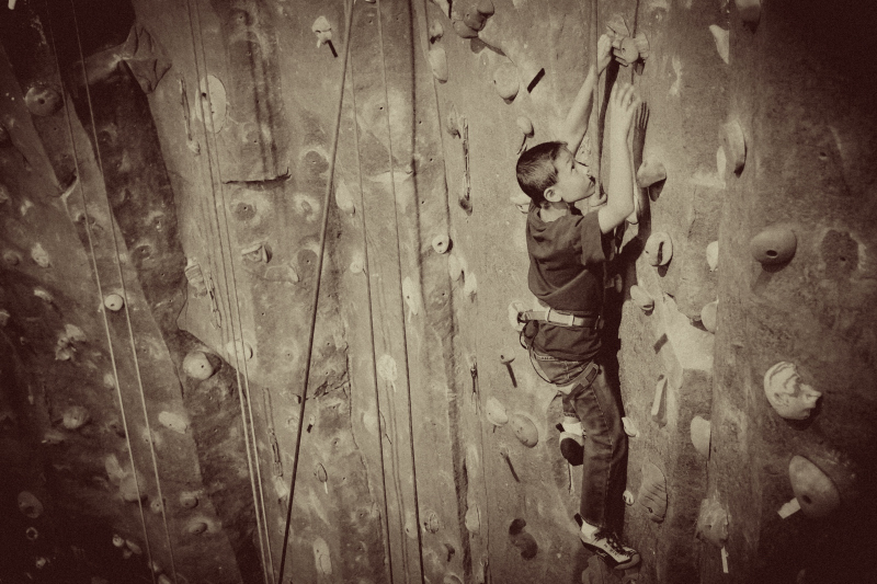 Old Tyme Rock Climbing