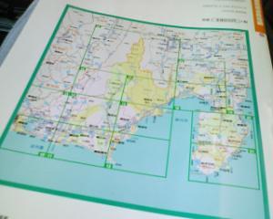 【東海道西走】静岡県の地図をながめてみた 三島を 10時にスタートしたとして、浜松に着くのは夜だな・ ・・