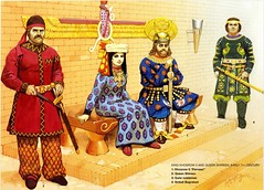 Persian Emperor and Queen (cool-art) Tags: court dark gold power iran royal persia palace sword ages emperor sassanian sassanid