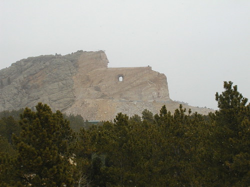 Crazy Horse in the mist