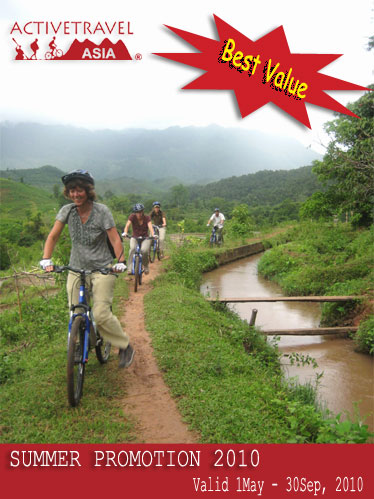 Biking Mai chau, Vietnam - Summer Promotion with ATA, 2010