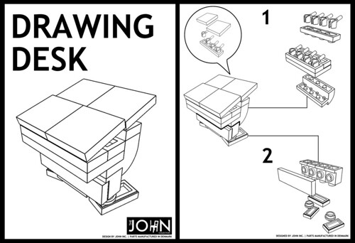 JOHN Collection: Drawing Desk instructions