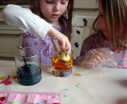 Dyeing Eggs - 2010