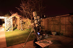 My telescope setup YAY (chris_swatton) Tags: auto light sky night garden dark stars star shoot seagull tube evil hampshire apo telescope short orion astronomy guide 80 130 fareham tmb polution 80mm f7 guider 130mm autoguider autoguide starshoot