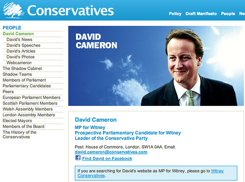 "David Cameron's ""Website"""