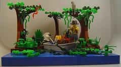 Cocodrile Dundee 02 (teruel211) Tags: boat lego jungle brickarms cocodriledundee