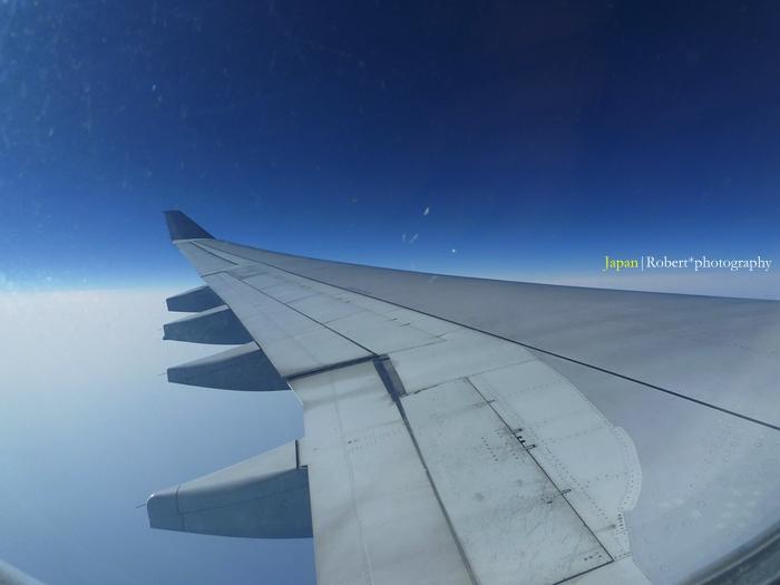 飛往日本的天空