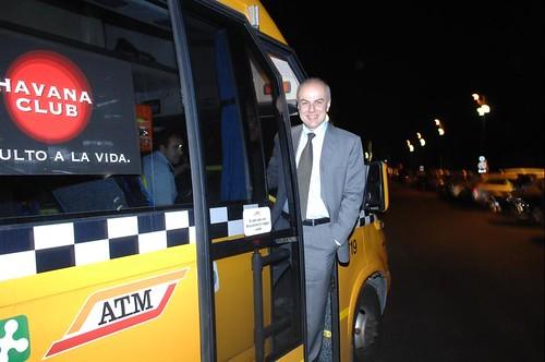 Edoardo Croci inaugura il servizio Bus by night, 13 aprile 2008