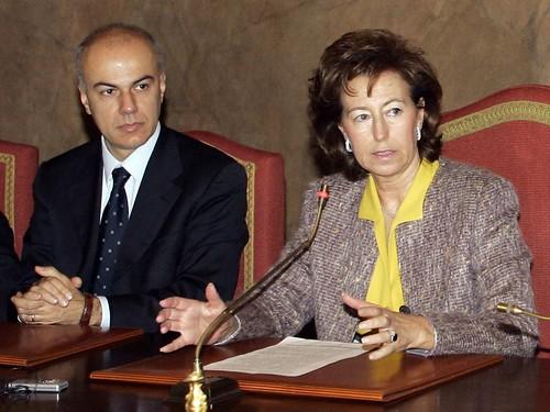Edoardo Croci e Letizia Moratti nella giunta di Milano, 17 novembre 2006