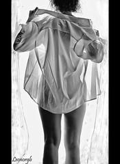 Buenos días.... (Leonorgb) Tags: bw woman cortina café canon contraluz ventana mujer leo bn desayuno supershot zumodenaranja buenosdías camisablanca