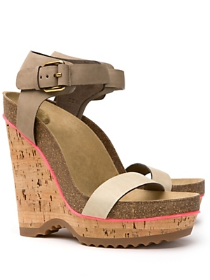 Stella McCartney Cork wedge