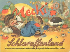 Mecki im Schlaraffenland (micky the pixel) Tags: buch book livre märchen fairytale comic comics mecki comicfigur maskottchen meckiimschlaraffenland schlaraffenland reinholdescher hörzu diehl bretzel kuchen schinken luilekkerland