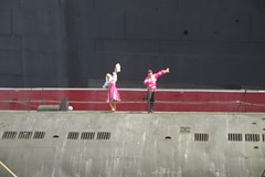 Dancers on Soviet submarine