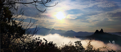 Misty morning at Tabur Hill, Melawati