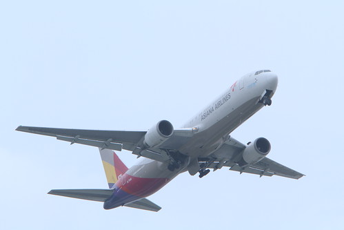 Asiana's B767-300 at Naha Airport