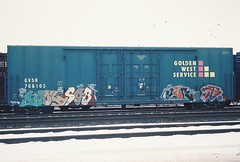 KOOL JERO SB (THE SLED) Tags: rain train graffiti la sub network jero sb freight kool goldenwest kools icr