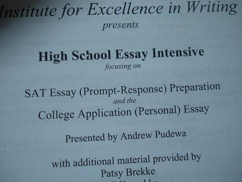 IEW SAT Essay prep