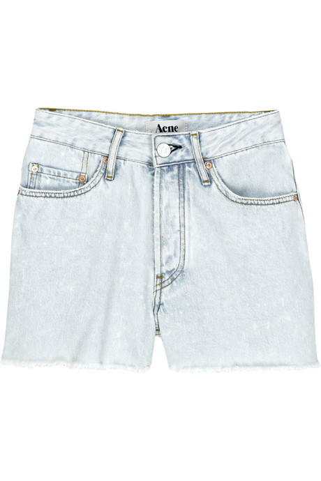 acne cut-off denim shorts net a porter